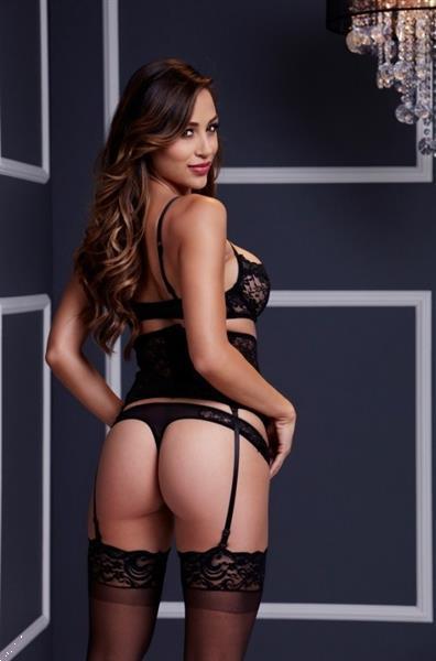 Grote foto zwart driedelig setje maat one size kleding dames ondergoed