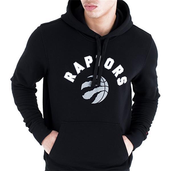 Grote foto new era toronto raptors hoodie zwart kledingmaat s kleding heren truien en vesten