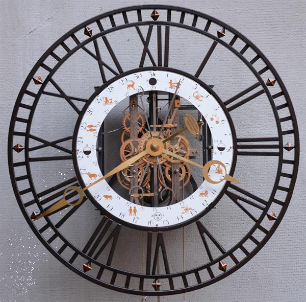 Grote foto upcycling xxl turmuhr industrie skelettuhr antiek en kunst klokken
