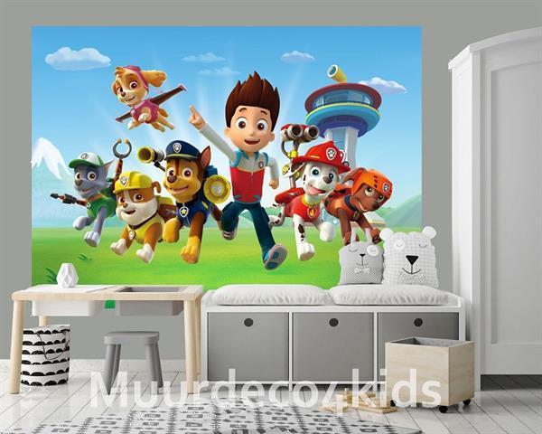 Grote foto paw patrol fotobehang l kinderen en baby inrichting en decoratie