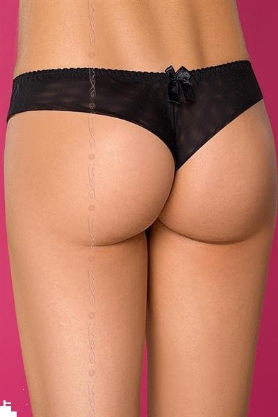 Grote foto string zwart met goud maat l kleding dames ondergoed