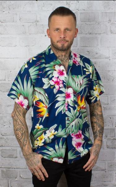 Grote foto karmakula montana blue hawaiien shirt. kleding heren t shirts