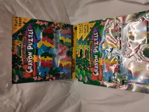 Grote foto 5st. crayon puzzle jungledieren kinderen en baby overige