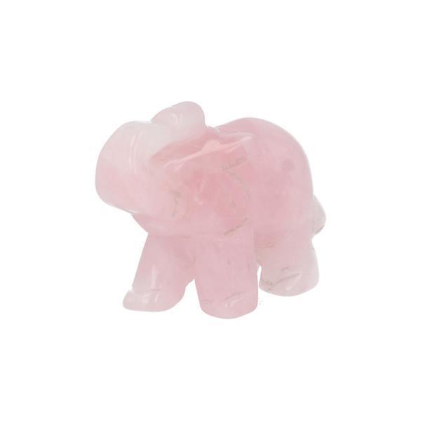 Grote foto rozenkwarts olifant nr 29 verzamelen overige verzamelingen