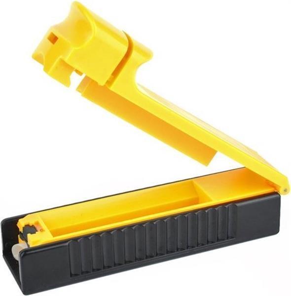 Grote foto sigaretten klikker roller maker hulzen vuller machine geel verzamelen overige verzamelingen
