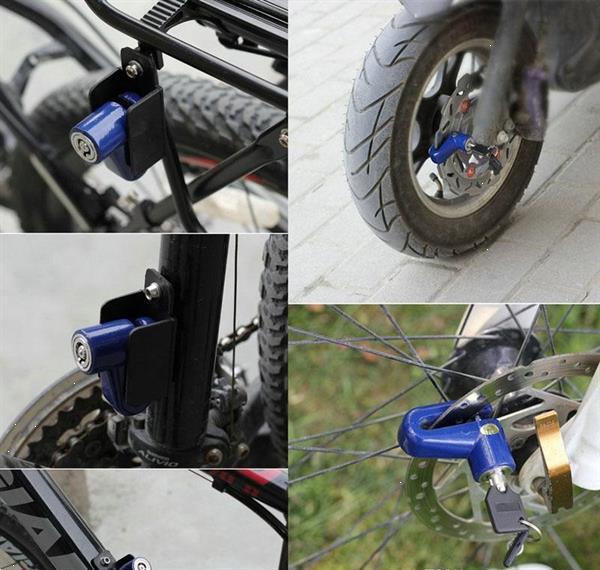 Grote foto remschijf slot rem schijf remschijfslot remslot fiets scoote motoren overige accessoires