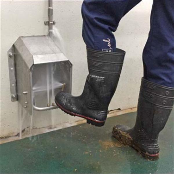 Grote foto laarzendouche boot jet laarzenreiniger agrarisch mechanisatie