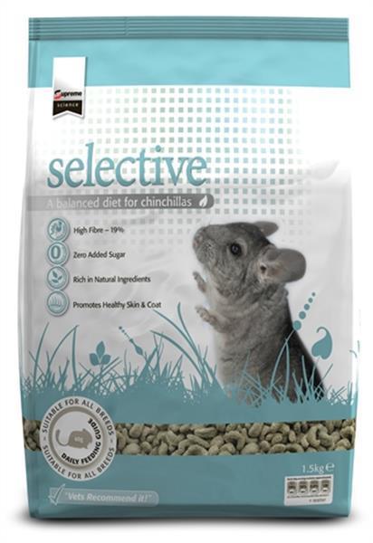 Grote foto supreme science selective chinchilla 1 5 kg dieren en toebehoren knaagdier accessoires