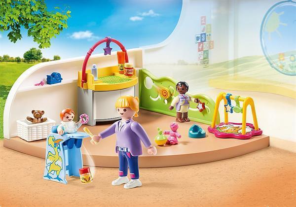 Grote foto playmobil city life 70282 peutergroep kinderen en baby duplo en lego