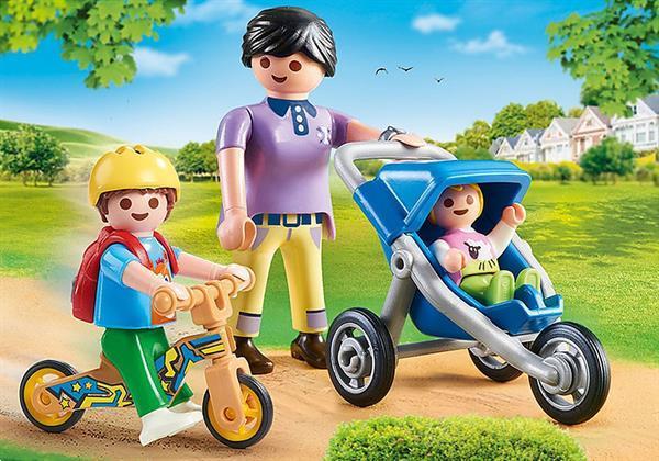 Grote foto playmobil city life 70284 mama met kinderen kinderen en baby duplo en lego