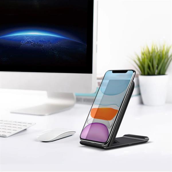 Grote foto qi wireless charger desk standard 15w support de t l phone telecommunicatie opladers en autoladers