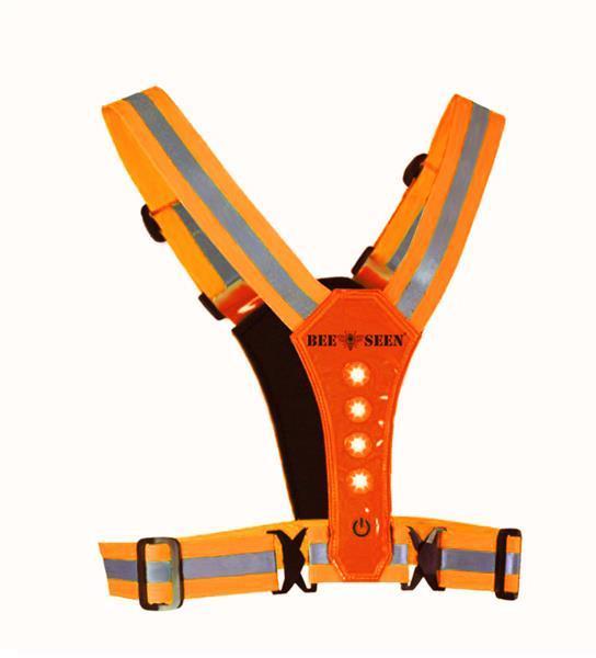 Grote foto led harness usb orange per stuk sport en fitness loopsport en atletiek