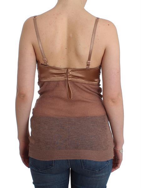 Grote foto ermanno scervino lingerie brown bustier top camisole cami it kleding dames t shirts
