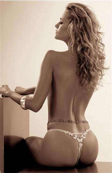 Grote foto luxe string wit of zwart maat m zwart kleding dames ondergoed