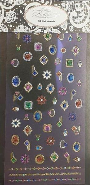 Grote foto korneliya 3d nail jewels xl xl04 rings and brooches diensten en vakmensen workshops
