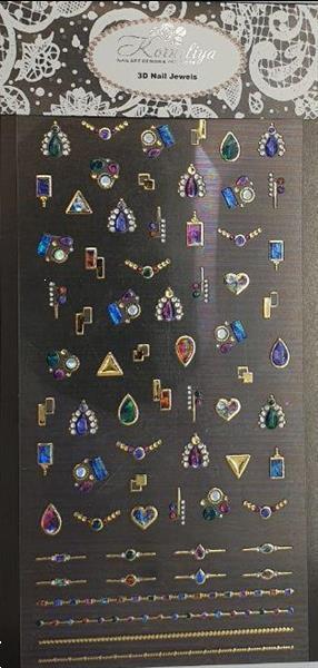 Grote foto korneliya 3d nail jewels xl xl05 gold and necklace diensten en vakmensen workshops