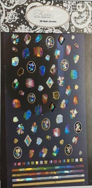 Grote foto korneliya 3d nail jewels xl xl03 rainbow stones diensten en vakmensen workshops