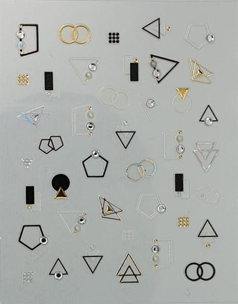 Grote foto korneliya 3d nail jewels deluxe dl03 geomatric diamonds diensten en vakmensen workshops