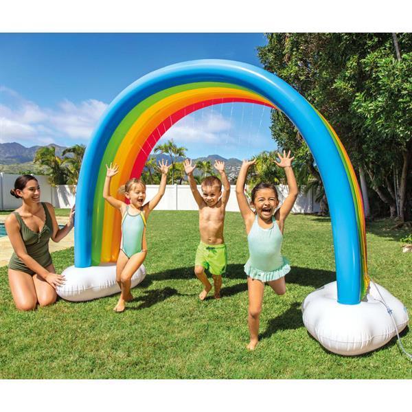 Grote foto intex regenboogsproeier 300x109x180 cm meerkleurig kinderen en baby los speelgoed