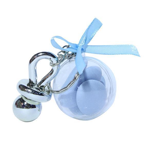 Grote foto traktatie blauw voor babyshower en geboorte kinderen en baby babyshower