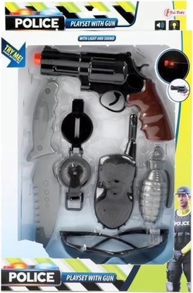 Grote foto toi toys politieset met geweer 6 delig kinderen en baby overige
