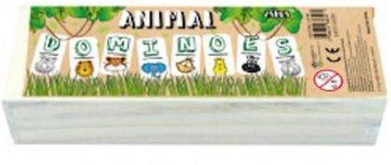 Grote foto houten domino wilde dieren in kistje klein formaat verzamelen overige verzamelingen