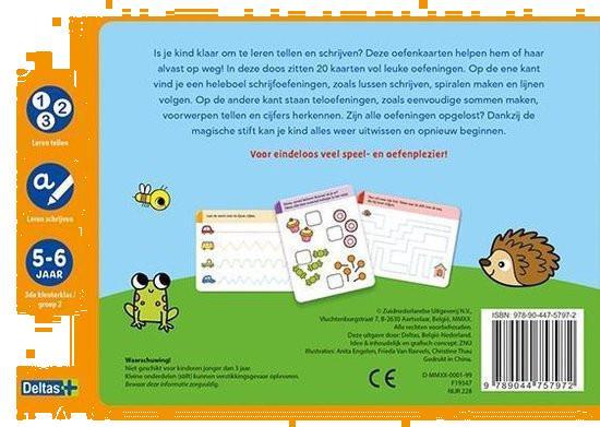 Grote foto deltas oefenkaarten tellen en schrijven junior kinderen en baby babyspeelgoed