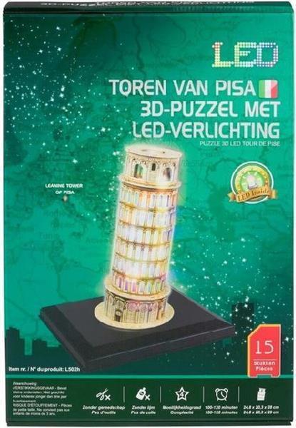 Grote foto toren van pisa 3d puzzel met led verlichting kinderen en baby puzzels