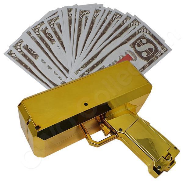 Grote foto money gun geld pistool cash cannon moneygun cashgun ca kinderen en baby los speelgoed