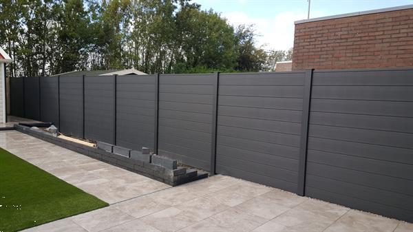 Grote foto schutting kunststof aluminium combinatie in twee kleuren 202 tuin en terras hekken en schuttingen