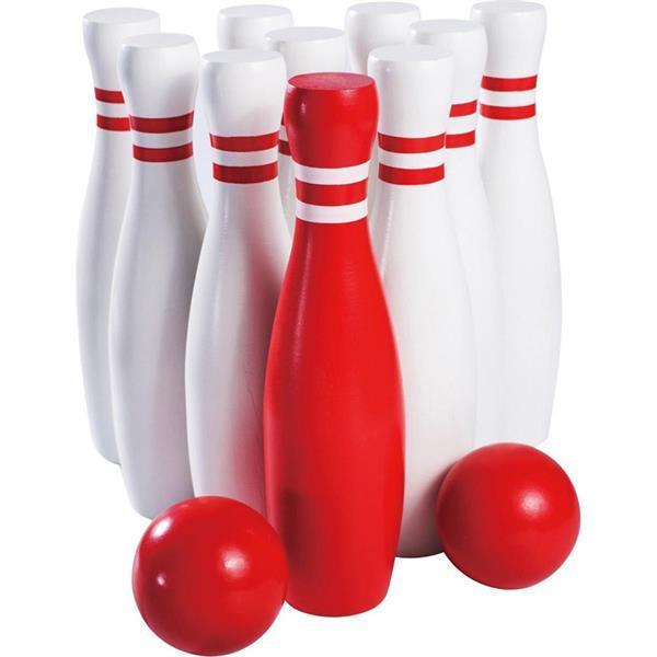 Grote foto bowlingspel xl 23cm hout alleen deze week 10 extra kor kinderen en baby los speelgoed