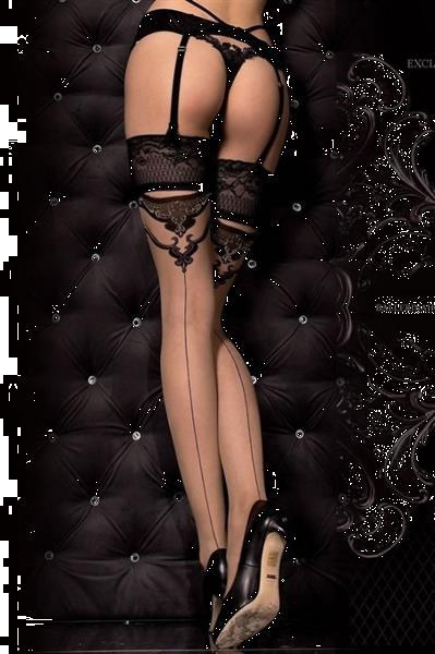 Grote foto huidkleurige naadkousen maat s m kleding dames ondergoed