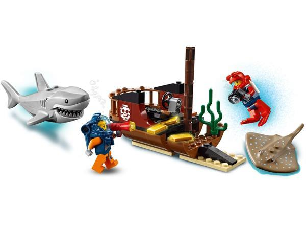 Grote foto lego city 60266 oceaan onderzoekschip kinderen en baby duplo en lego