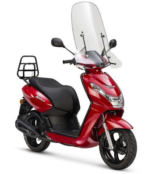 Grote foto peugeot kisbee premium e5 cherry red bij central scooter fietsen en brommers scooters