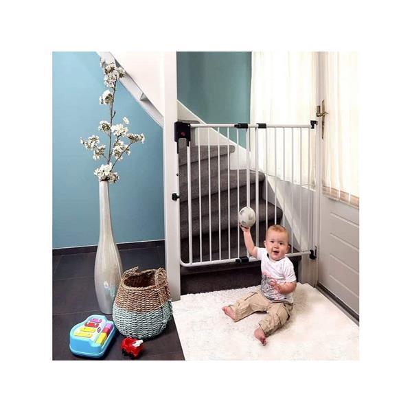 Grote foto a3 baby kids safetydoor traphek 75.5 tot 116 cm wit kinderen en baby traphekjes