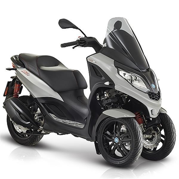 Grote foto piaggio mp3 300 hpe sport grigio pastello lucido bij cent fietsen en brommers scooters