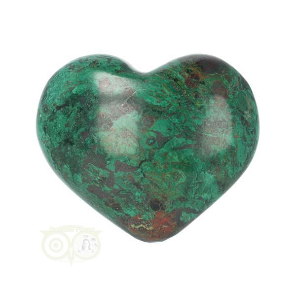 Grote foto chrysocolla hart nr 14 verzamelen overige verzamelingen