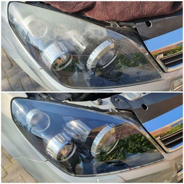 Grote foto koplampen polijsten op locatie mogelijk diensten en vakmensen autopoetsers en wassers