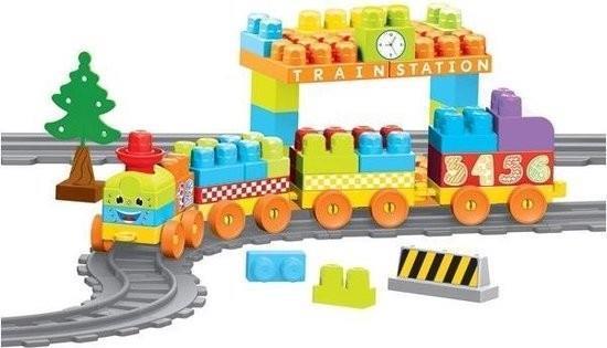 Grote foto baby blocks treinstation 89 delig 3 35 meter vanaf 1 jaar kinderen en baby babyspeelgoed