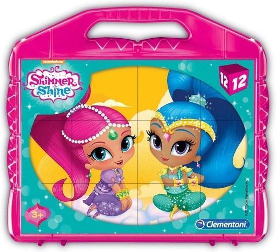 Grote foto clementoni blokpuzzel shimmer shine 12st. kinderen en baby babyspeelgoed