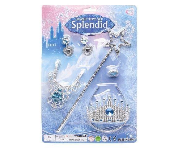Grote foto prinsessen accessoireset splendid blauwe lange handschoene kinderen en baby overige