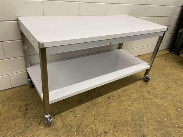 Grote foto rvs verrijdbare werktafel tafel 160 x 70 x 85 cm horeca diversen overige diversen