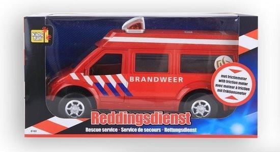 Grote foto reddingsdienstvoertuig brandweer 26 cm rood kinderen en baby overige