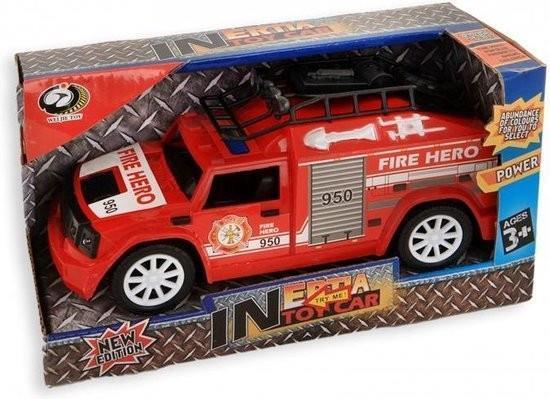 Grote foto brandweer auto 20 cm frictie licht en geluid vanaf 3 jaar kinderen en baby overige