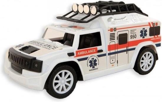 Grote foto ambulance 20 cm frictie licht en geluid vanaf 3 jaar kinderen en baby overige