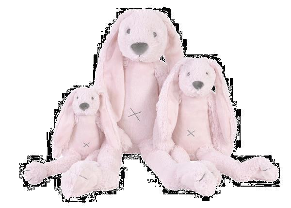 Grote foto big pink rabbit richie kinderen en baby knuffels en pluche