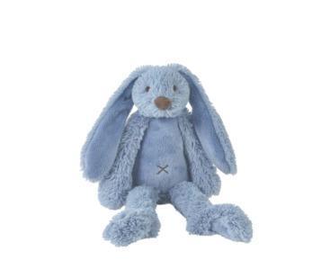 Grote foto deep blue rabbit richie kinderen en baby knuffels en pluche