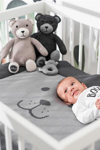 Grote foto knuffel bear natural knit kinderen en baby kraamcadeaus en geboorteborden