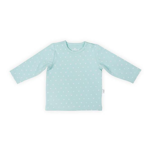 Grote foto shirt lange mouw 50 56 hearts soft green kinderen en baby overige