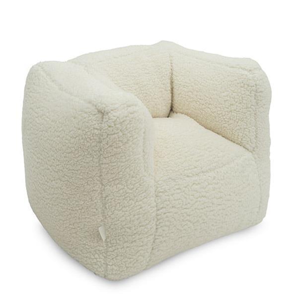 Grote foto fauteuiltje beanbag teddy cream white kinderen en baby complete kinderkamers